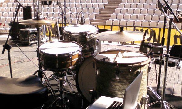 "Colapesce - Ludwig Drum set ""Un meraviglioso declino"" tour - 2012"